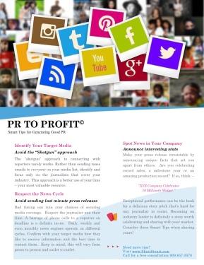 PR TO PROFIT (Generate Good PR) 1